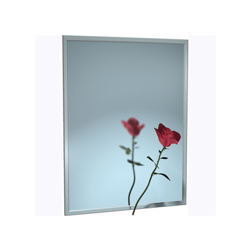 ASI 0620-1622 Mirror - Stainless Steel, Chan-Lok Frame - Plate Glass - 16