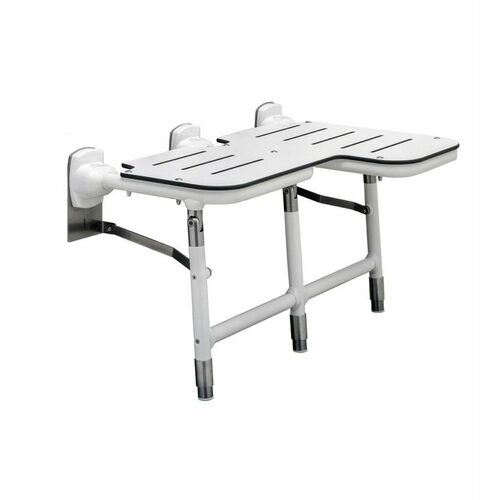 Bobrick 918116L Bariatric Folding Shower Seat With Legs - Left Hand