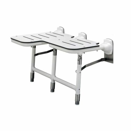 Bobrick 918116R Bariatric Folding Shower Seat With Legs - Right Hand