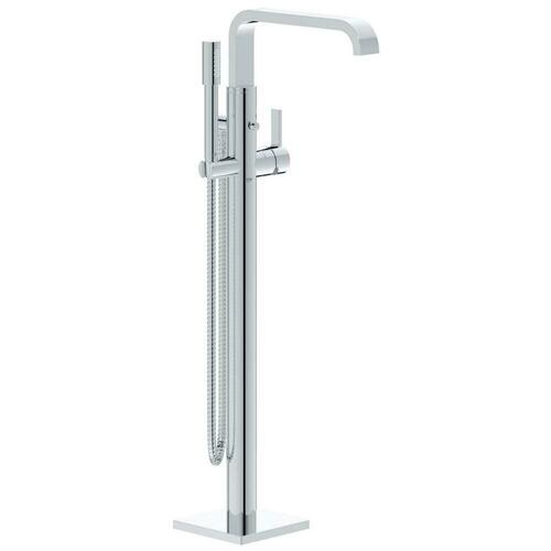 Grohe 32754002 Allure 1.75 gpm 1-Hole Deck Mount Tub Filler with Single-Handle and Handshower, Starlight Polished Chrome