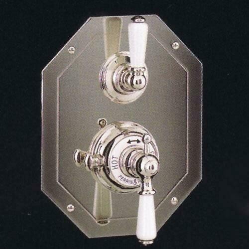 Rohl U.5555L-PN/TO Double Lever Handle Octagonal Concealed Thermostatic Trim with Volume Control, Polished Nickel