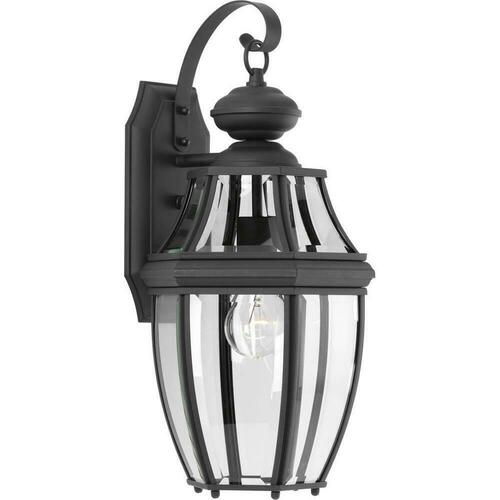Progress Lighting P6611-31 New Haven 100W 1-Light Incandescent Outdoor Wall Sconce, Black