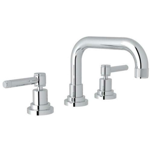 Rohl A3318ILAPC-2 Campo Deck Mount Widespread Bathroom Sink Faucet with Double Lever Handle, Polished Chrome