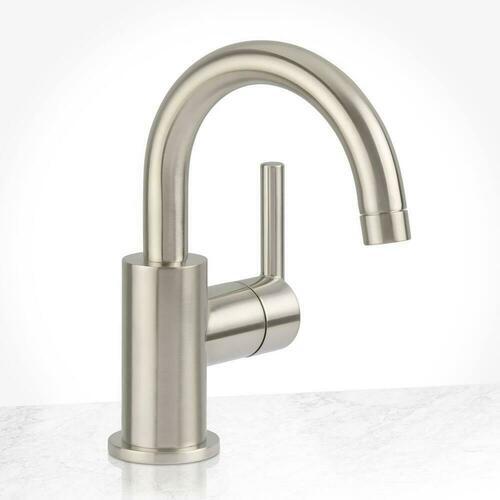 Miseno MNO1343SLBNP Mia Single Handle Monoblock Bathroom Sink Faucet in Brushed Nickel Lever Handle