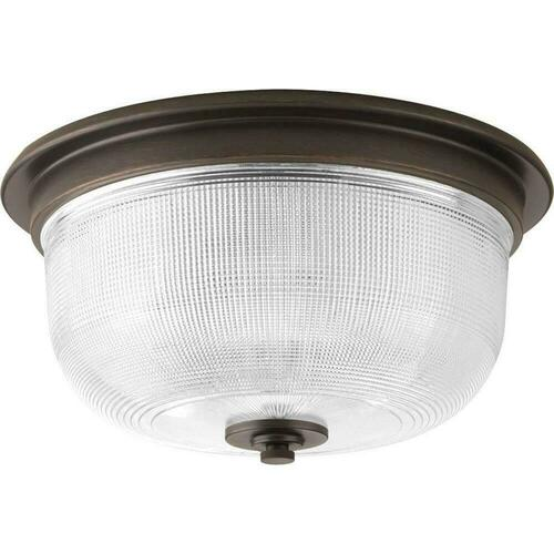 Progress Lighting P3740-74 Archie 75W 2-Light 120v Medium Flushmount Ceiling Fixture, Venetian Bronze
