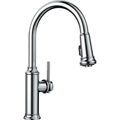 Blanco 442501 Empressa Single Handle Pull Down Kitchen Faucet, Polished Chrome