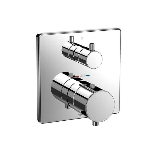Toto TBV02404U#CP Thermostatic Mixing Valve with 2-way Diverter for Mini Unit TBN01001U Rough-in Box