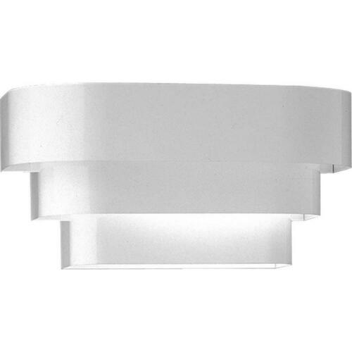 Progress Lighting P7103-30 100W 1-Light Wall Sconce with Glass, White