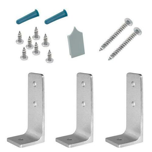 Jacknob 15793 Headrail Bracing Pack (3) Angle Brackets Stainless
