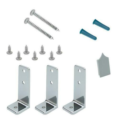 Jacknob 15790 Headrail Bracing Pack (3) Angle Brackets-Chrome
