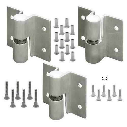 Jacknob 67553 Hinge-Surface Mounted (Rh-In) Rd. Barrel (2T/1B Of 7113) Stainless-6Lp