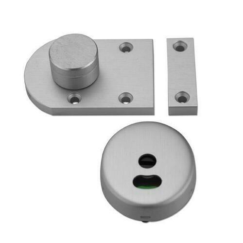 Jacknob 124434 Latch Slide S/M-Indicator-W/Keeper-Aluminum