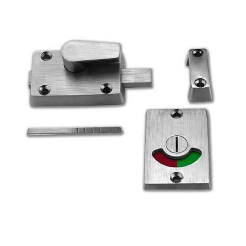 Jacknob 124563 Latch Slide S/M-Indicator-W/Keeper-Cast Stainless