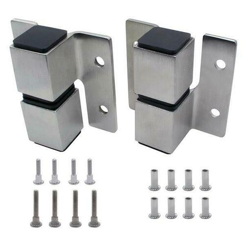 Jacknob 7413 Hinge-Surface Mounted (Rh-In/Lh-Out) Square Barrel Stainless