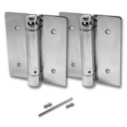Jacknob 8643 Hinge-Set-Surface Mounted-Tension Spring 4 X 3/32 Ss-Polish