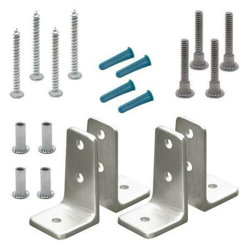Jacknob 615523 Angle Bracket Pack Two Pair Stainless 6Lp