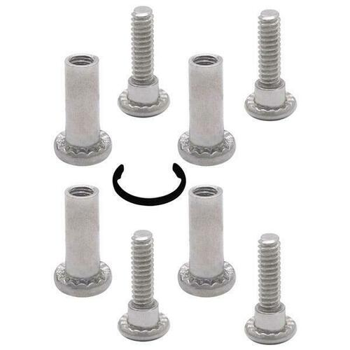 Jacknob 6112729 Screw Pack Surface Hinge-Door 3/4