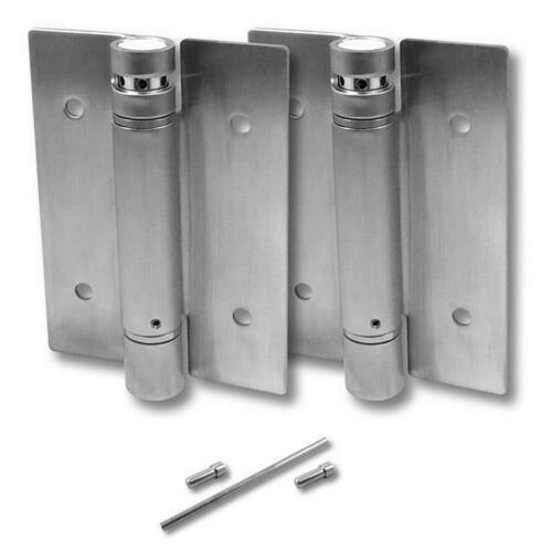 Jacknob 8659 Hinge-Set-Surface Mounted-Tension Spring 5 X 3/32 Ss-Satin