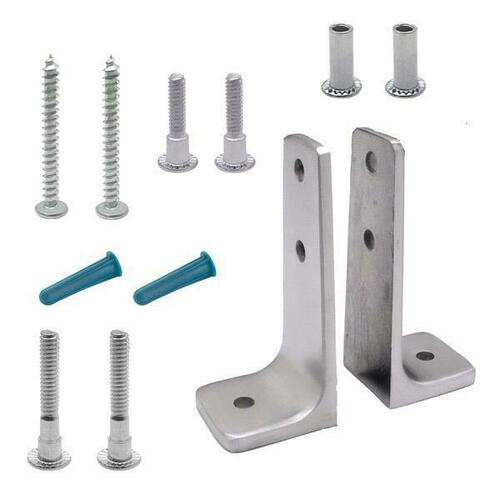 Jacknob 615493 Angle Bracket Pack Two Piece-X-High Stainless 6Lp