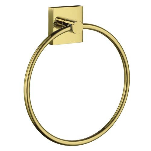 Smedbo RV344 Towel Ring, Polished Brass