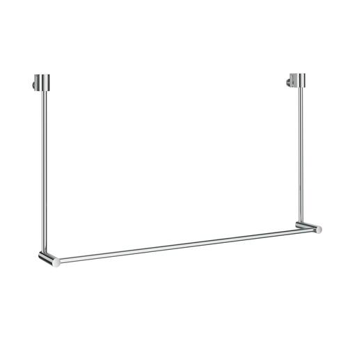 Smedbo DK3101 Towel Rack for Glass Shower Panel, Polished Chrome
