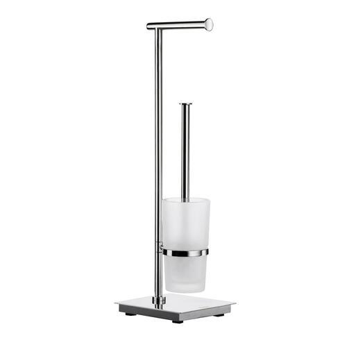 Smedbo FK603 Toilet Roll & Brush, Stainless Steel