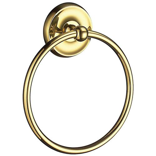 Smedbo V244 Towel Ring, Polished Brass
