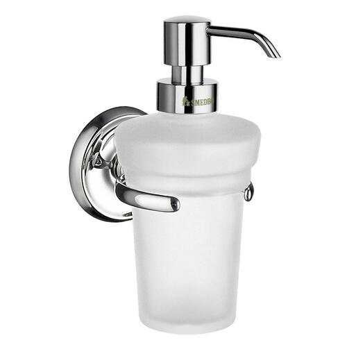 Smedbo K269 Holder with Glass Soap Dispenser, Polished Chrome