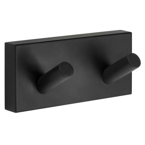 Smedbo RB356 Double Towel Hook, Black