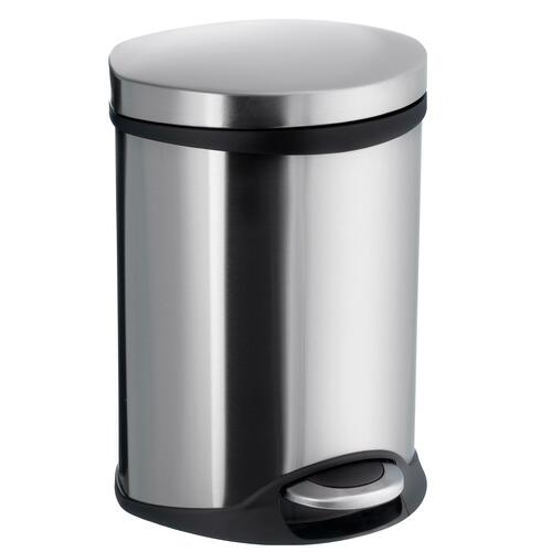 Smedbo FK663 1-1/2 Gallon Step Trash Bin, Brushed Stainless Steel