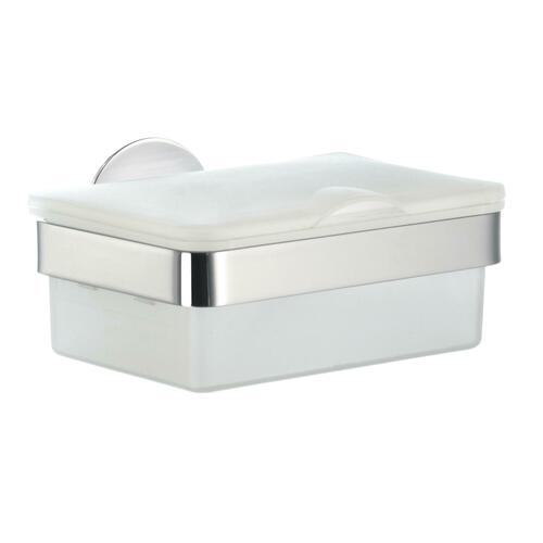 Smedbo YK379 Wet Tissue Box with Froast Glass, Polished Chrome