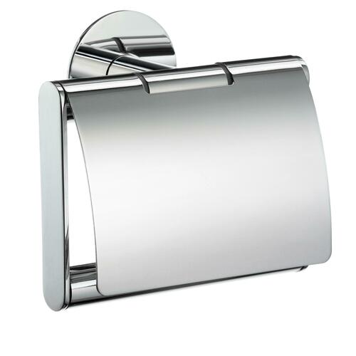 Smedbo YK3414 Toilet Roll Holder with Cover, Polished Chrome