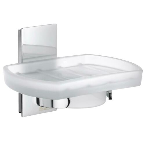 Smedbo ZK342 Holder with Soap Dish, Frosted Glass