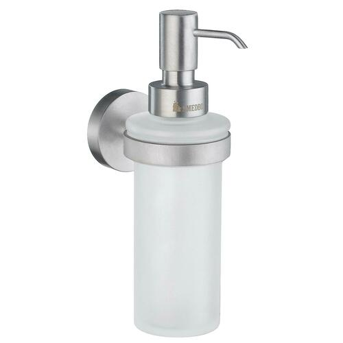 Smedbo HS369 Holder W Soap Disp, Brushed Chrome