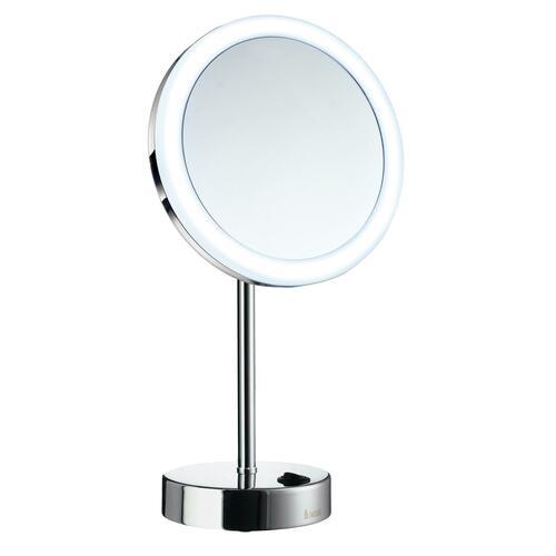 Smedbo FK484EP 5X Shaving/Make Up Mirror with Warm/Cool Led Light, Chrome
